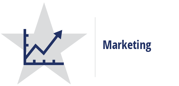 Marketing career cluster icon